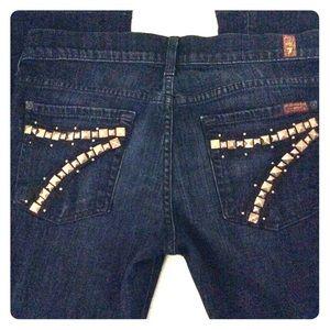 Women's size 28 7 for all man kind DOJO jeans